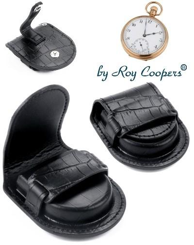 Etui für Taschenuhren Roy Coopers CROCO schwarz