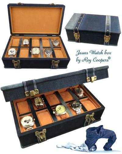 Uhrenkoffer JEANS by Roy Coopers für 10 Armbanduhren