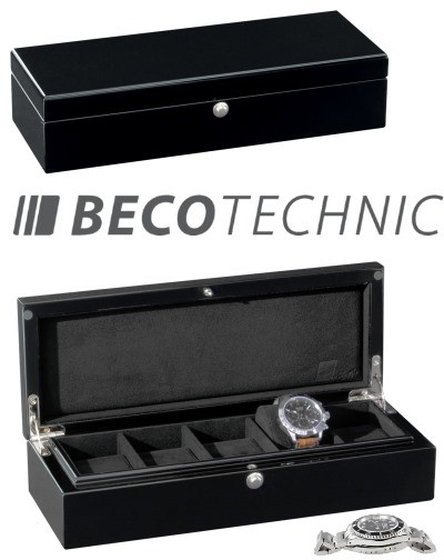 Uhrenbox Beco Technic PIANO 5 Silk für 5 Armbanduhren