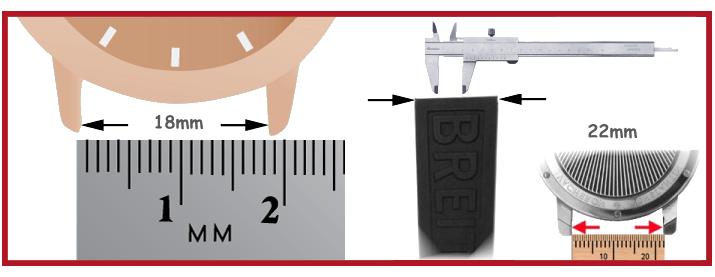 Silikon Uhrenarmband Taucheruhr Uhrmacherwerkzeug Uhrmacherbedarf Uhrenbeweger S1