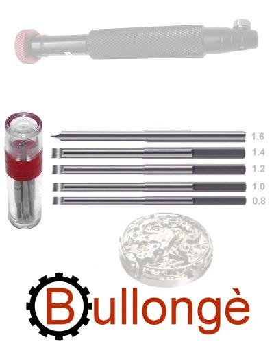 FLEXY M - 5 Micro Klingen für Uhrwerkschrauben / Montage