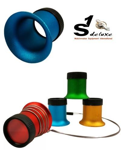 4 Aluminum Lupen mit Okularhalter ActiX Coloré für Uhrmacher