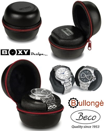 BULLONGÈ Hartschalen-Uhrenetui SUPERSAFE mit Boxy-Kissen
