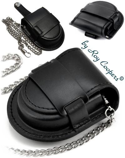 Gürteltasche für Taschenuhren Roy Coopers KROSS schwarz mit Kette
