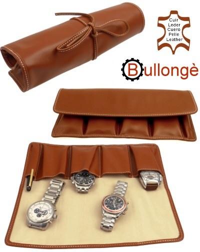 Uhrenrolle BULLONGÈ LUXOWA Echtleder cognac