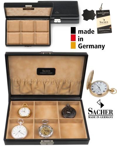 Manufaktur Uhrenschatulle für 6 Taschenuhren CLASSICO