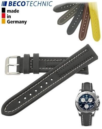 Armband Arizona Kalb 24mm anthrazit / Edelstahl