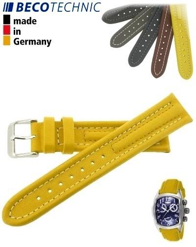 Armband Arizona Kalb 18mm gelb / Edelstahl