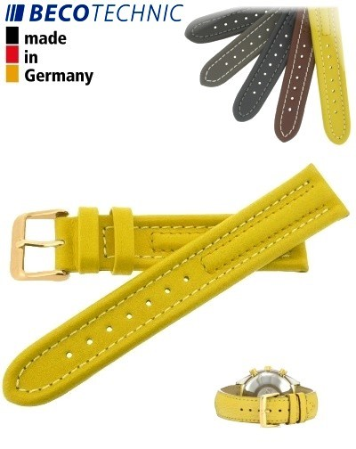 Armband Arizona Kalb 22mm gelb / gold