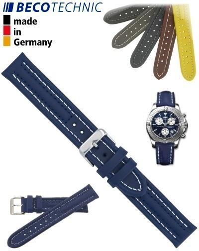 Armband Arizona Kalb 24mm blau / Edelstahl