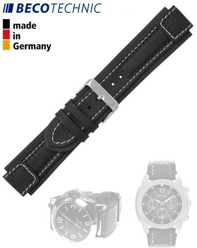 Beco Technic Uhrenband Terrasco Kalb 18 mm black
