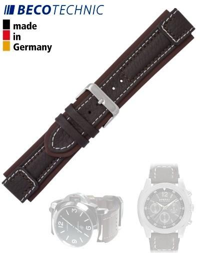 Beco Technic Uhrenband Terrasco Kalb 22 mm braun