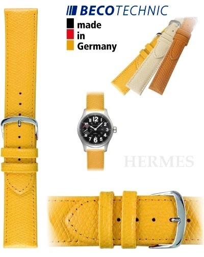Beco Technic HERMES Uhrenarmband gelb stahl 18mm