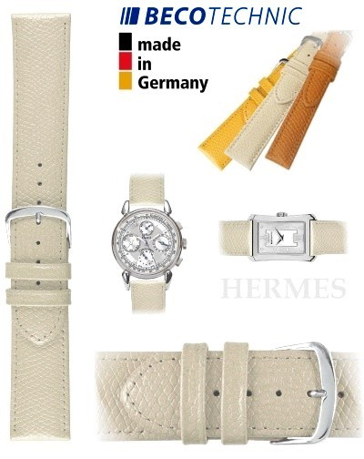 Beco Technic HERMES Lederarmband creme stahl 16
