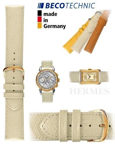 Beco Technic HERMES Lederarmband creme gold 16