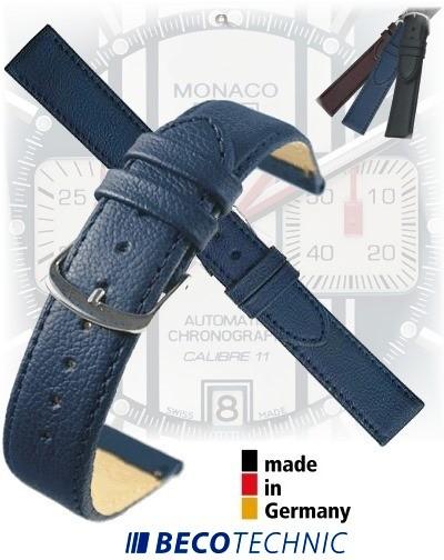Uhrenarmband Leder NAPPA mitternachtsblau 12 stahl