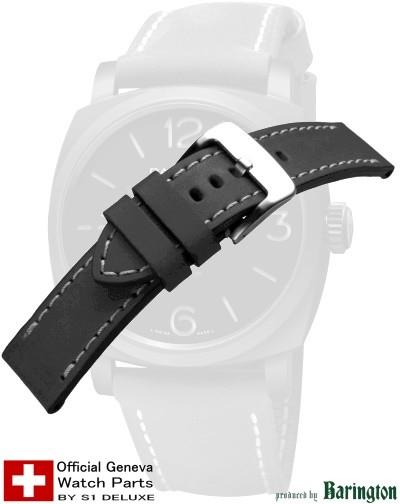 Lederarmband ROYAL-AERONAUTICAL schwarz 24mm