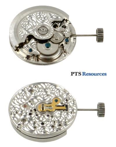 Automatisches Uhrwerk PTS 2624-A STEEL mit Gravur