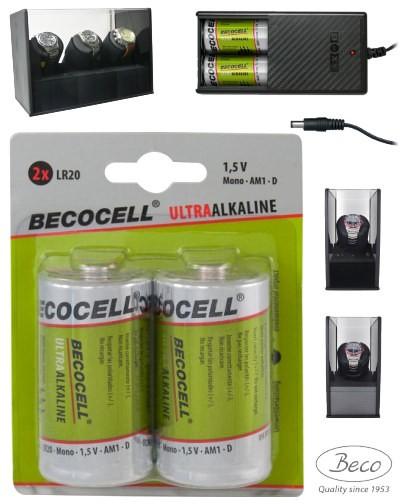 2x Becocell LR20 für Uhrenbeweger Battery Pack