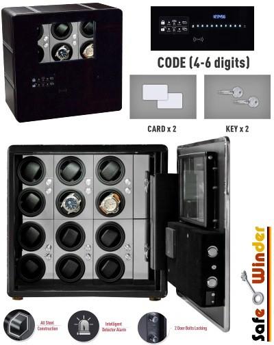 Safewinder® PRESTIG X12 Uhrenbeweger & Safe