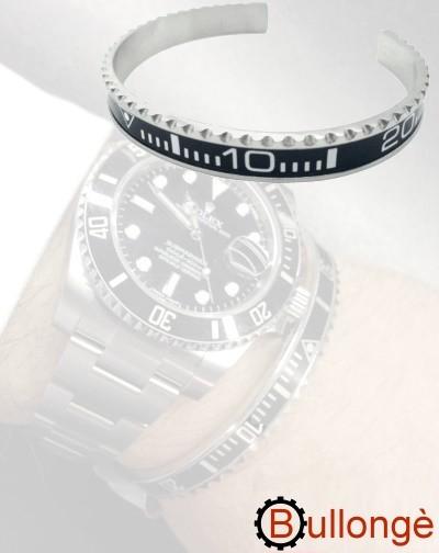 Armband im Lünetten-Stil SUB schwarz