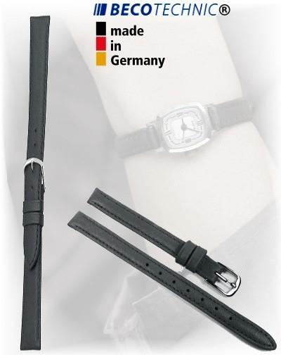 Lederarmband Beco Technic Polo 10mm schwarz stahl