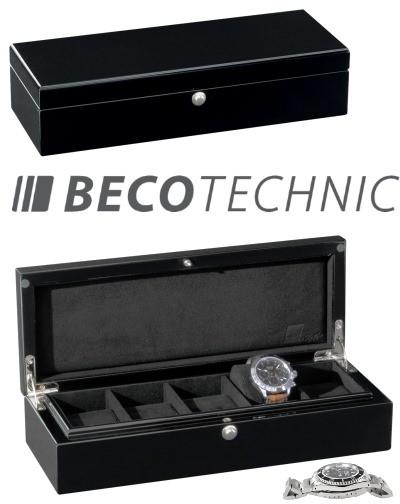 Uhrensammlerbox BECO CASTLE 5 Silk matt schwarz