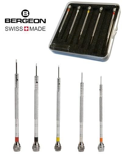 5 Schraubendreher Premium-Qualität Bergeon 2868