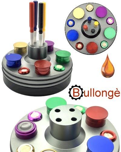 Ölbock auf Drehsockel 5 Ölbehälter 4 Ölgeber BULLONGÈ RX5