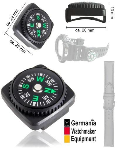 Flüssigkeitsgedämpfter Armband-Kompass GWE NAV1
